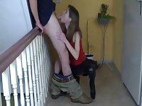 Fick im Treppenhaus