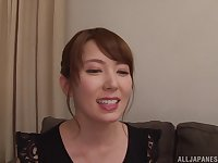 MILF Japanese housewife Hatano Yui sprayed with cum on face