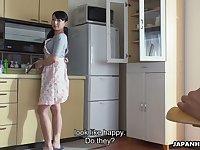 Ardent svelte Jap gal Kokona Sakurai wanna be poked doggy style darn great