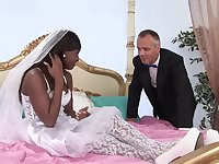 future bride Jasmine Webb enjoys hard fuck with a stranger on the bed