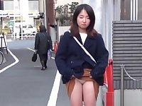 Japanese teenagers flash