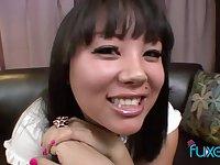 Asian schoolgirl Tina Lee - hot POV sex video