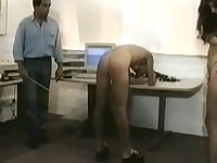 Female office workers spanked by boss (vintage spanking)