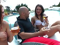 For Savannah Secret nothing is better than hard threesome by the pool