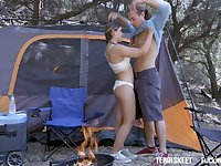 Libidinous teen with yummy ass Cleo Vixen will never forget passionate camping sex