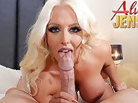 Full-Breasted blond hair babe porn babe Alura Jenson gets banged in POINT OF VIEW