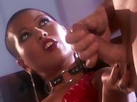 Costumed Max Mikita blows every inch of her friend's hard penis