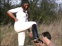 riding boot femdom in the field
