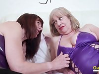 True womanly love and these mature BBWs love sapphic sex