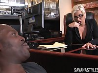 Business lady Savana Styles invited her black lover to her office