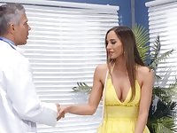 Doctor puts his huge dick in juicy pussy of charming Desiree Dulce
