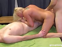 Married mature fucked by several younger men