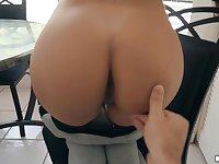 POV dick sucking and riding by amazing pornstar Serena Santos