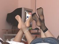 Chinese college student footshow