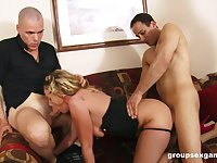 MILF fucked so hard that she falls exhausted and flooded by jizz