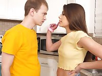 Stepsibling rivarly is a real thing but that teen just wants her stepbro's cock