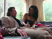 Brunette darling Priscilla Salerno enjoys having hardcore sex