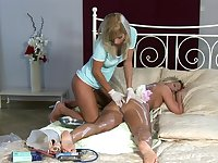 Best moments of pure lesbian porn for two addictive blondes