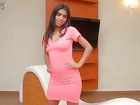Hot Venezuelan babe Debora Pena is finger fucking wet yummy pussy