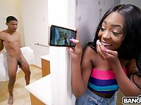19 yo stepsister catches her stepbro acting fool naked in the bathroom