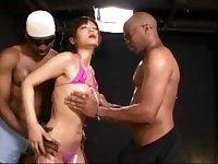 Haruki Sato Japanese Woman Audition Threesome Sex Monster Penis 40cm African Man