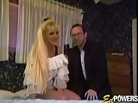 Retro video of natural tits wife Angel Bust having lesbian sex
