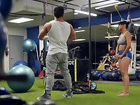 Day at the gym goes rough and slutty once this chick gets her hands on dick