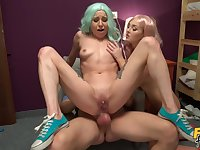 Dirty dames Lovita Fate and Mishelle Klein wow a shared lover