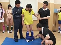 Exciting Japanese Girls Soccer Players Banged By Referees - Orgy sex