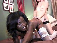 Lesbian Strapon Interracial Sex