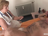 Smooth fucking on the bed with a dick and a large dildo. HD