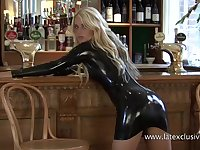 Just kinky one more latex slut who definitely enjoys flashing her ass