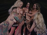 Sensual MILFs discover the beauty of sharing toys in dirty group XXX