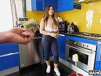 Convinces hot maid to take off her clothes for extra money
