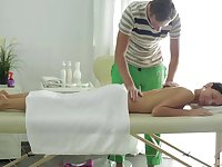 Insolent wife receives much more than a simple massage