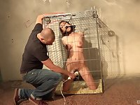 Slave girl Antonia Saniz kept in a cage and used as a sex slave