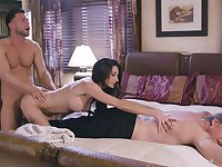 Silvia Saige is the sexy lady in the middle of a hot MFM threesome