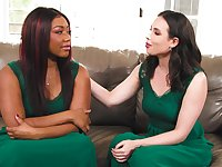 BBW ebony Chanell Heart pleasured by horny lesbian Casey Calvert