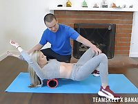 Amateur blonde darling Carolina Sweets fucked by her personal trainer