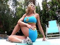 Big tits MILF blonde hardcore action