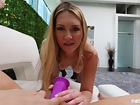 Adira and Bella are having tons of fun with various sex toys, while making love