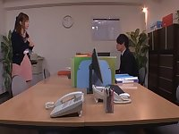 Two guys get together to pleasure horny pussy of Yu Namiki