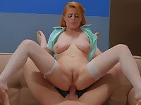 Restless doctor assfucks colleague Penny Pax and makes her squirt